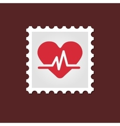 Blood pressure medical stamp vector