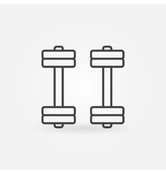 Dumbbell icon or sign vector