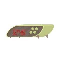Modern digital table clock icon cartoon style vector
