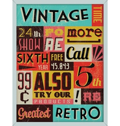 Retro Vintage Background vector image