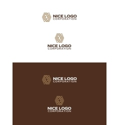 Abstract parquet logo vector