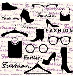 Accessories fashion background vector