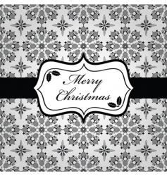 Black and white christmas wrapping vector