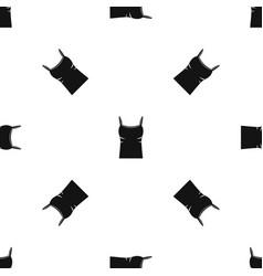 Blank women tank top pattern seamless black vector