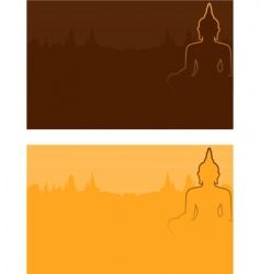 Buddhism vector image
