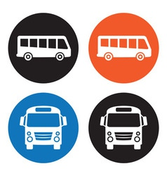 Bus icons vector image
