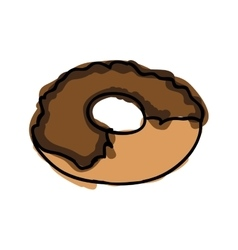 Chocolate sweet donut vector