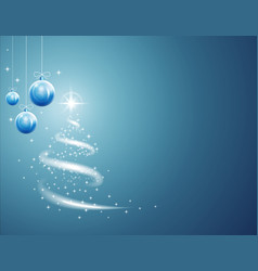 Christmas balls and stars background with blizzard vector
