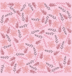 Colorful floral and leaves pattern for background vector