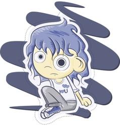 cute schoolgirl vector image vector image