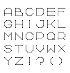 Digital english alphabet minimalistic dotted font vector