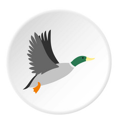 Duck icon circle vector