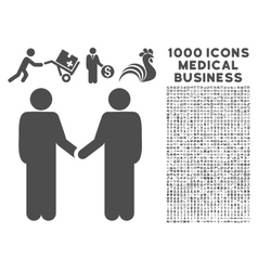 Friend Meeting Icon with 1000 Medical Business vector image vector image