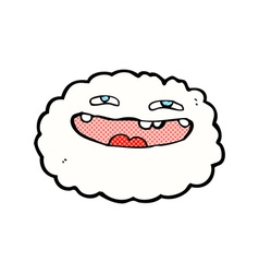 Happy comic cartoon cloud vector