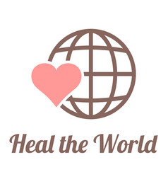 Heal the world sign vector