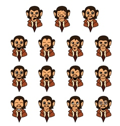 Monkey-businessman vector