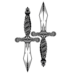 Ornate swords vector image