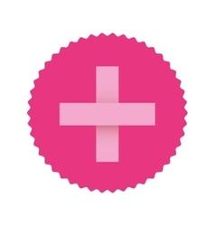 Pink emblem symbol breast cancer and cross vector
