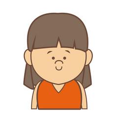 portrait woman female cartoon people smiling vector image vector image