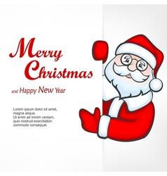 Santa blank sign vector