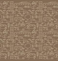 Seamless transport pattern vector