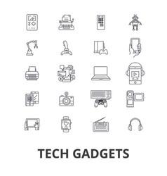 tech gadgets technology electronics laptop vector image