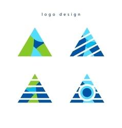 Triangle creative logo design vector image