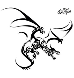Tribal Dragon vector image