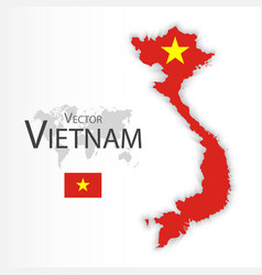 vietnam flag and map vector image