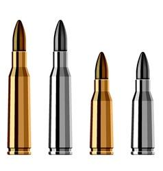 Weapon gun bullet cartridge vector