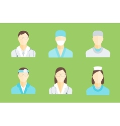 Doctors and Medical Staff Set vector image