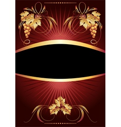 Golden vine ornament vector image