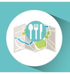 restaurant map pin pointer design vector image