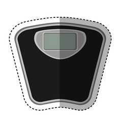 scale balance digital icon vector image