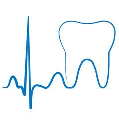 Logo for the dental clinic office the impulse vector
