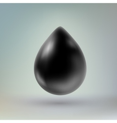Black drop of liquid vector