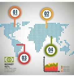 World infographic design vector