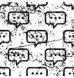 Typing message pattern grunge monochrome vector
