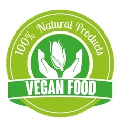 Healthy food and vegan lifestyle vector