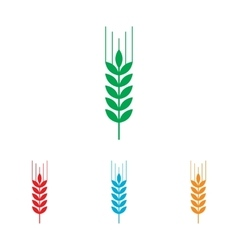 Wheat sign colorfull set vector