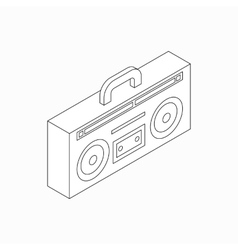 Cassette recorder icon isometric 3d style vector