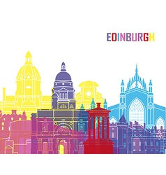 Edinburgh skyline pop vector