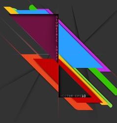 Geometric colors shape vector