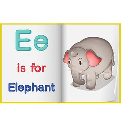 A picture of an elephant in a book vector image vector image