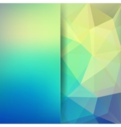 Abstract geometric style green background vector