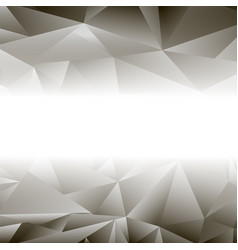 abstract grey triangle background vector image