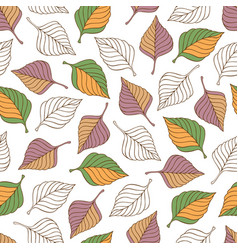 aut leaves collect-01 vector image vector image