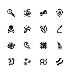 Bacteria - flat icons vector