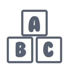 Blocks alphabet education icon vector