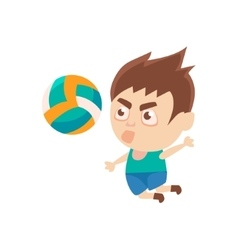 Boy sportsman playing volleyball part of child vector